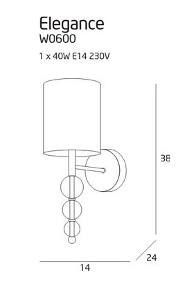 Lampa Ścienna MaxLight Elegance W0600