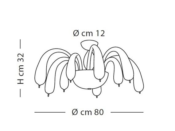 Lampa Sufitowa Sillux REDENTOR LS 4/254 transparentna