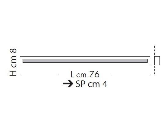 Male-Line Lampa Sufitowa LED 76 cm Sillux chrom