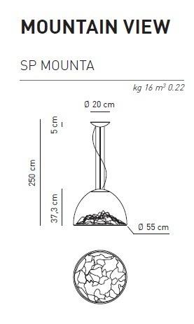 Mountain View SP  Lampa Wisząca AXO Light przezroczysto-chrom LED
