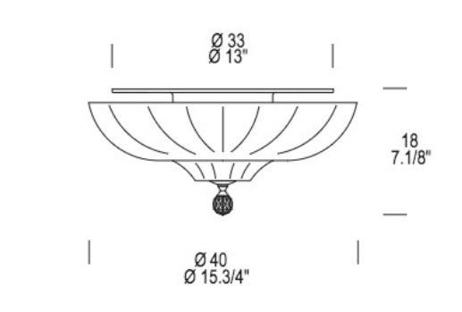 Plafon Leucos PASCALE PL 40 cm