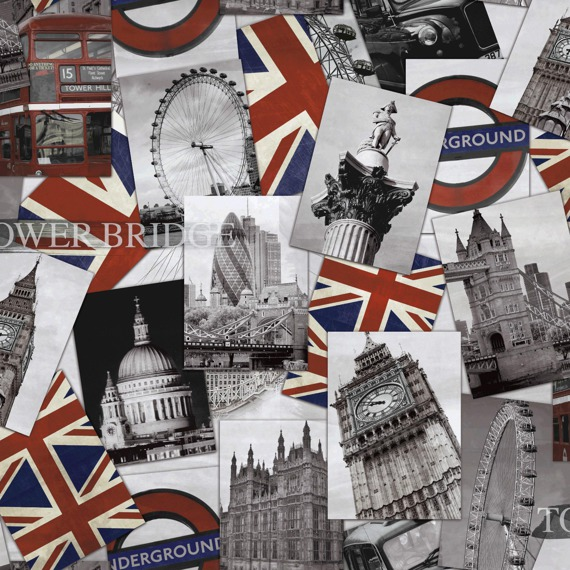 Tapeta Grandeco Home Souvenir London POC-01-01-4